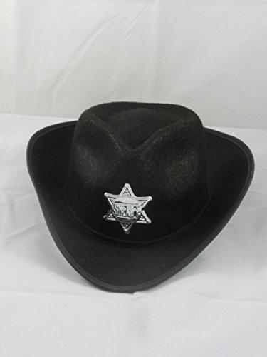 Cowboyhut Erwachsene schw arz (Sheriff Gute Kostüme)