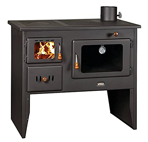 Poêle à bois en fonte Top plaques Bûche Brûleur cuisson au four Prity 14kW