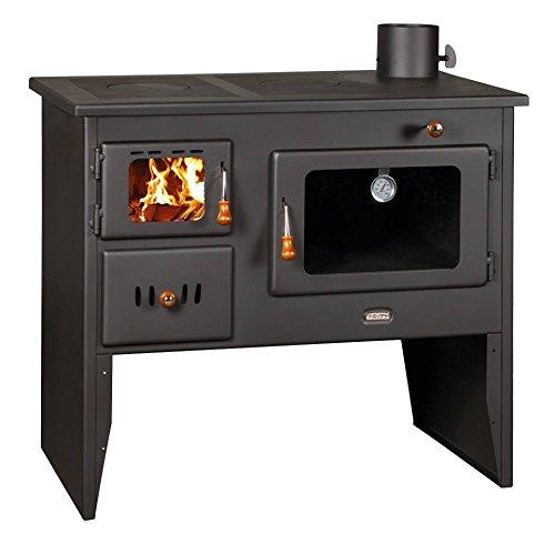 Estufa de leña hierro fundido placas Log quemador para cocinar en el...