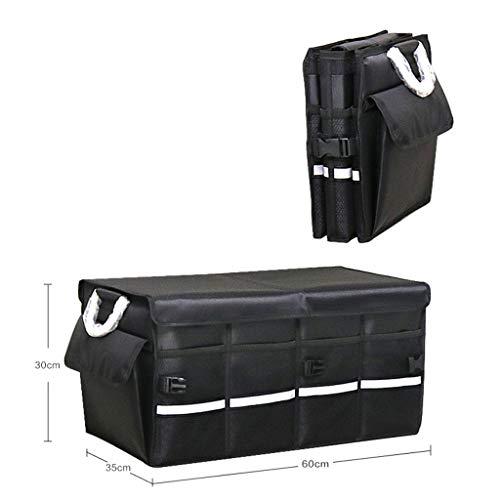 Cassiel Y Boîte De Rangement pour Voiture - Facile À Nettoyer, Pliable, Poignée en Aluminium (Noir),#2