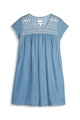 ESPRIT Damen Kleid Blau (Blue Light Wash 903)
