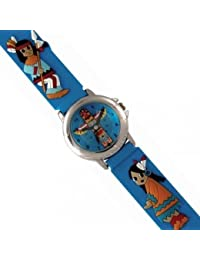 Trendy Kiddy - KL102 - Montre Mixte - Quartz Analogique - Cadran Multicolore - Bracelet Plastique Bleu