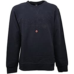 C0988 felpa uomo AERONAUTICA MILITARE blu girocollo sweatshirt men [XL]
