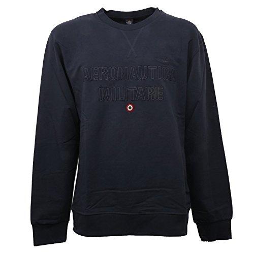 Aeronautica militare c0988 felpa uomo blu girocollo sweatshirt men [s]
