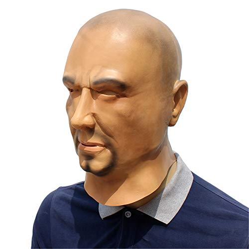 Drachen Realistische Kostüm - QNFNB Neuheit Halloween Kostüm-Party Latex Realistisch Menschliches Gesicht Glatzköpfiger Mann Maske