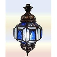Lanterna, modello Marrakesh-Lampada da soffitto in stile marocchino, in vetro