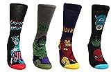 adam & eesa Marvel Comics Herren Superhelden-Socken 39-45 (2018 neue Designs), 4 Paar