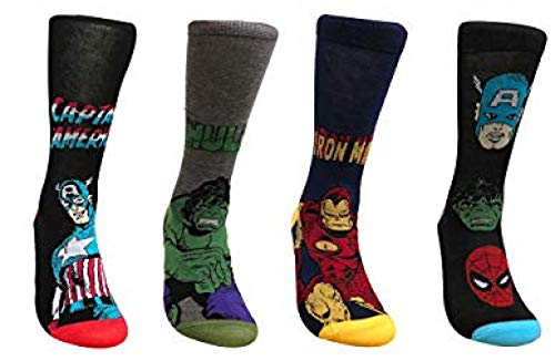 adam & eesa Marvel Comics Herren Superhelden-Socken 39-45 (2018 neue Designs), 2 Paar