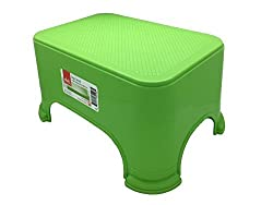 Click Home Design - Step Stool - Bright Beautiful Collection 35528 - 11.5 x 7.3 x 6.5 inches Green