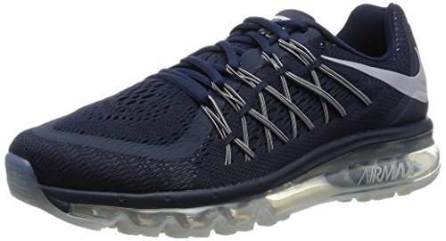 Nike Air Max 2015, Chaussures de Running Compétition Homme Black / Grey / Black (Obsidian/Wolf Grey-Black)