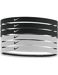 Nike Swoosh deporte diademas 2.06pk - BN2018-010-F, Una talla le queda a la mayoría, Negro/Blanco