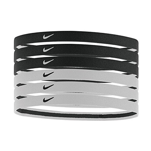 Nike Damen Swoosh Stirnband, Black/White, OSFM Nike Swoosh Stirnband