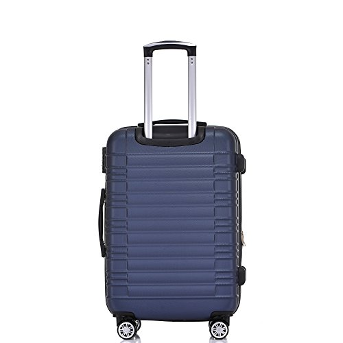 BEIBYE 2088 Zwillingsrollen Reisekoffer Koffer Trolleys Hartschale M-L-XL-Set in 13 Farben (Dunkelblau, XL) - 3