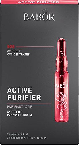 Collagen Booster (BABOR AMPOULE CONCENTRATES Active Purifier, Gesichtspflege für unreine Haut, mit Teebaumöl, wirkt poren-verfeinernd, antibakteriell, 7 x 2 ml)