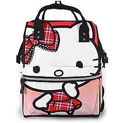 Hello Kitty Sac à langer multifonction grande capacité Rouge