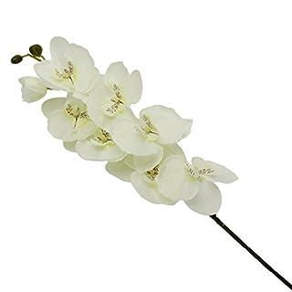 Merssavo 8Pcs Artificial Fake Flower Schmetterling Orchidee Phalaenopsis künstliche Silk Blumen Flower Home Wedding Party Decor (weiß)
