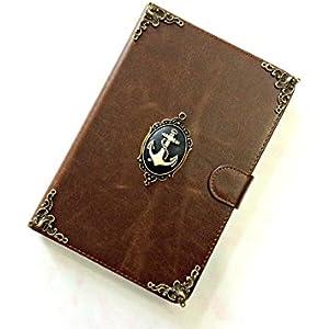 Anker ipad lederner Fall, handgemachte ipad Abdeckung für iPad Mini 1 2 3 4 iPad Luft 2 iPad Pro 9,7 Zoll 12,9 Zoll iPad Pro 10.5 inch Case Cover MN0282