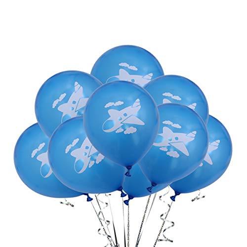 Amosfun 50 STÜCKE Cartoon Flugzeug Latex Luftballons Party Dekoration Partei Liefert für Baby Shower Kid Spielzeug (Partei Dekorationen Und Liefert)