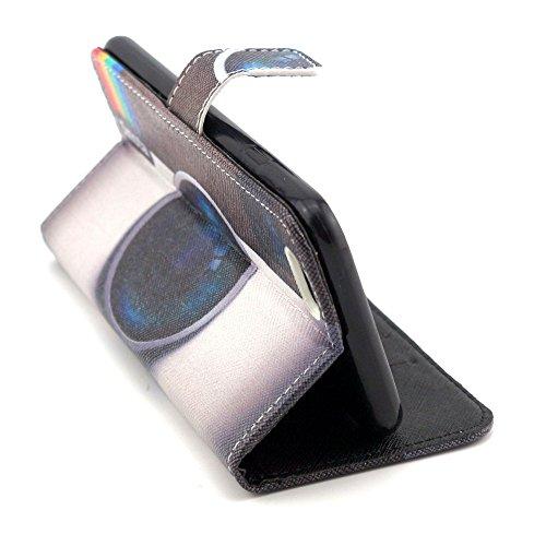 TIODIO® 4 en 1 Skin Coque en PU Cuir Portefeuille Housse de Protection à rabat Case Etui Pour Apple iPhone 6S Plus/iPhone 6 Plus, Stylus et Film protecteur inclus, A01 A15