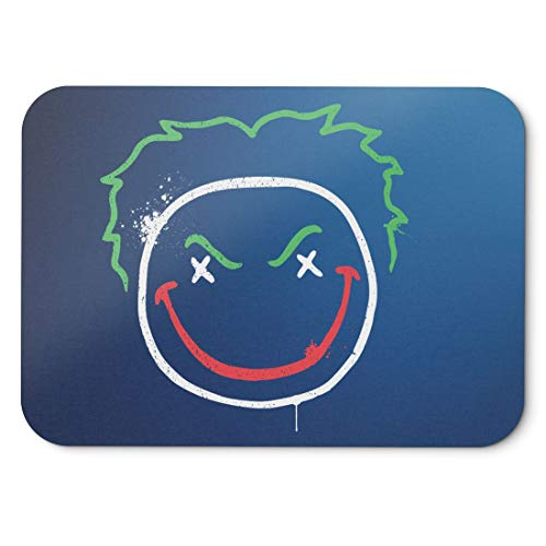 BLAK TEE Joker Face Logo Mouse Pad 18 x 22 cm in 3 Colours Blue