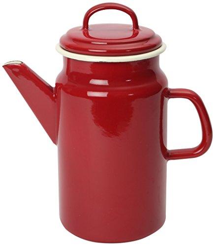 Dexam - Jarra para café (esmaltada, 2 L), diseño vintage, color rojo