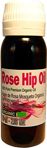 Hagebuttenöl: - 60ml- Top-Qualität Produkt 100% Pure und echt. Produziert in Patagonien, Versand aus Spanien. Cold Press, Extra Virgin, All Organic Certified Prozess der EU-Behörde
