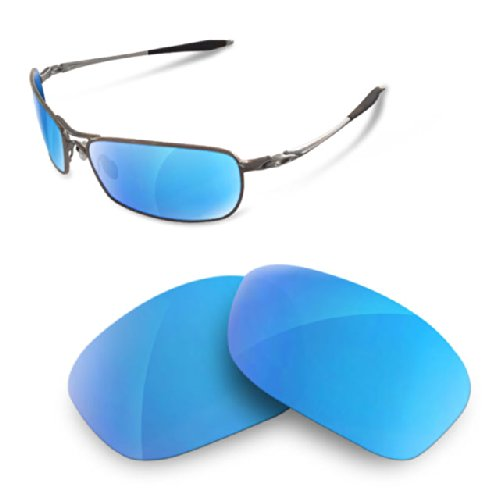 sunglasses restorer Kompatibel Ersatzgläser für Oakley Crosshair 2.0, Polarized Ice Blue Gläser