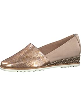 TAMARIS Damen Keil-Slipper Rosa (Metallic)