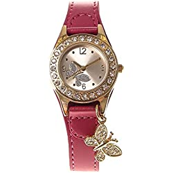 Claire's Girls and Womens Butterfly Charm Wrist Watch