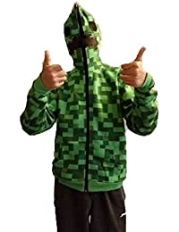 Jinx Official Boy's Minecraft Creeper Premium Zip-up Hoodie by CJM (shipping from UK)