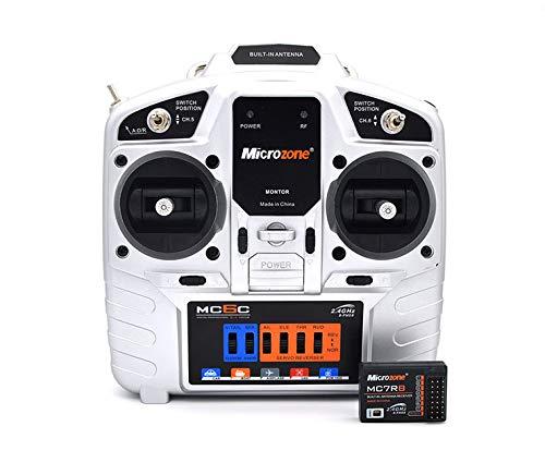 Etrogo Microzone MC6C Sender 2.4GHz 6CH RC Transmitter Mit MC7RE Empfänger for FPV Racing RC Drohne Quadcopter(Modus-2 Linke Hand)