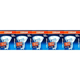 5 Stück Osram 64824 FL HALOPAR16 ALU Halogen-Reflektor 230V GU10 50W