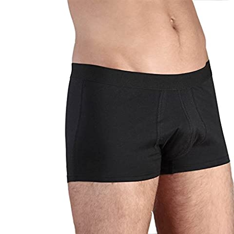 Herren Trunk Boxer Shorts // GOTS zertifiziert // ökologisch | fair | Bio-Baumwolle - XL - Schwarz