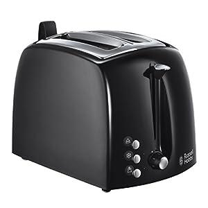 Russell Hobbs 22601-56 Textures Plus Toaster, 6 einstellbare Bräunungsstufen, 2 extra breite Toastschlitze