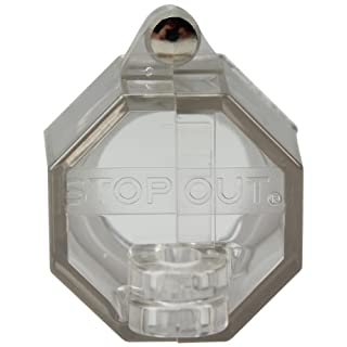 Accuform Signs KDD219 STOPOUT Push Button Cover with 22.5mm Base with Steel Hinge Pin by Accuform Signs