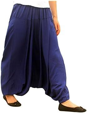 [Patrocinado]Aivtalk - Pantalones Anchos Holgados Arabe Mujeres Unisex Palazzo Bombachos Flojos Harem de Lino Suave para Mujeres...