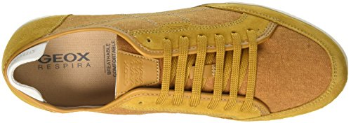 Geox U Walee A, Sneakers Basses Homme Jaune (Ochreyellow)