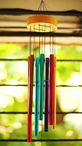 Wind Chimes for Home Positive Energy 7 Color Pipes Windchimes for Balcony Bedroom with Good Sound