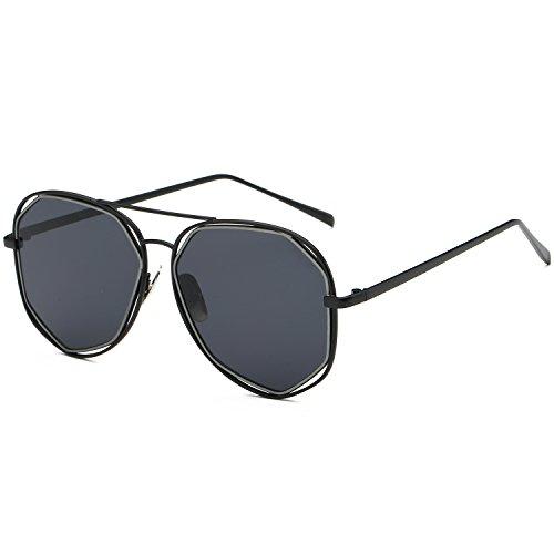 sojos Fashion Telaio in metallo per lenti a specchio occhiali da sole sj1004 grigio Black / Grey