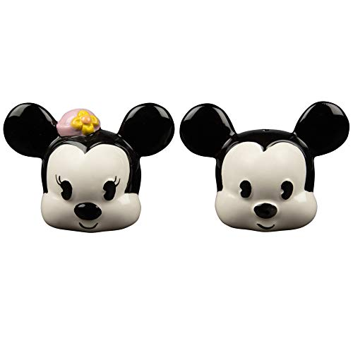 Mickey & Minnie Mouse Salz- und Pfefferstreuer Set - Original Classic Design - Keramik