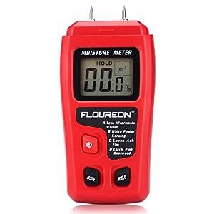 FLOUREON Rilevatore di Umidità, Misuratore/Tester di Umidità Digitale e Portatile, con Schermo Retroilluminato LCD per… 41KusmTvhsL. SS300