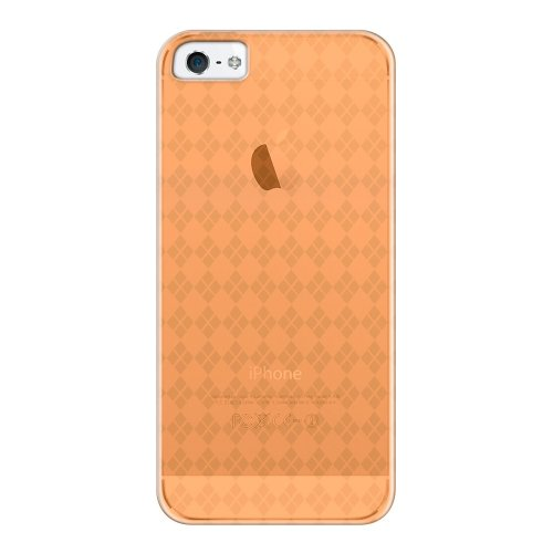 Katinkas Soft Case für Apple iPhone 5 checker transparent orange
