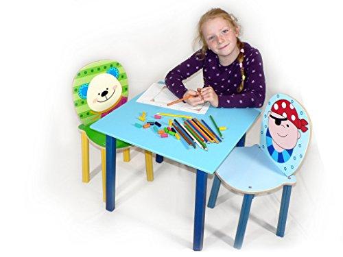 Rudolphs Schatzkiste Table en Bois de Bleu de Table de Meubles d'enfant Seulement la Table L/B/H 250X150X25 millimètre de Nouveau