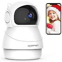 APEMAN WLAN Kamera IP ÜberwachungsKamera 1080P mit 2 Wege Audio,Bewegungserkennung,Nachtsicht und Intelligenter Rotation, Indoor-Baby/Haustier-Monitor