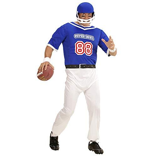 WIDMANN?Disfraz para Adultos, Fútbol Americano Jugador, Mono y Casco