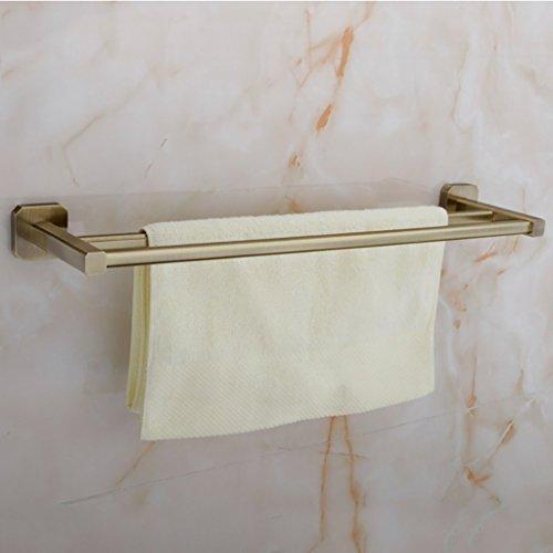 Handtuchhalter Handtuchhalter/Doppelzimmer voll Kupferstäbe verdickte Bad Handtuchhalter an der Wand Baugruppen Badezimmer Handtuchhalter (Größe: 50cm).