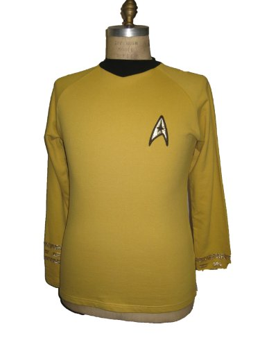 Serie Trek Uniform Original Kostüm Star - Star Trek Original Serie - Raumschiff Enterprise - Uniform Oberteil - Captain - Super Deluxe - XXXL