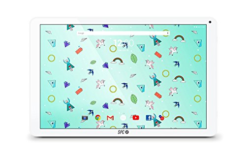 SPC Heaven - Tablet de 10.1' (Quad Core 1.3 GHz, memoria RAM de 2 GB, memoria interna de 16 GB, camara de 2 MP, Android 6.0) color blanco