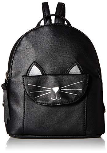 T-Shirt & Jeans Damen Black Backpack Kitty Pocket, schwarzer Rucksack, Einheitsgröße