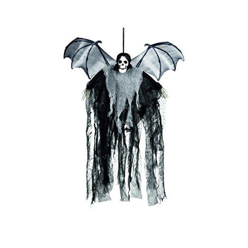 La Muerte con Alas - 60 cm | Adorno Colgante Halloween | Accesorio Fiesta de Terror Esquelético | Decoración Murciélago